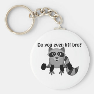 Do You Even Lift Bro Raccoon Keychain
