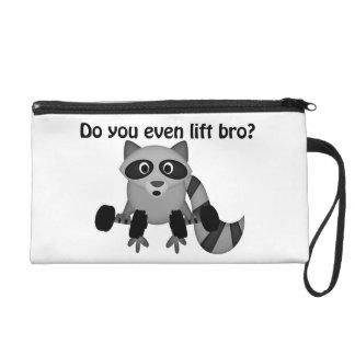 Do You Even Lift Bro Raccoon Wristlet Purse