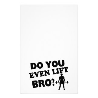 Do You Even Lift Bro? Stationery