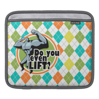 Do you even Lift?  Colorful Argyle Pattern iPad Sleeves