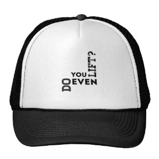 Do you even lift? hats