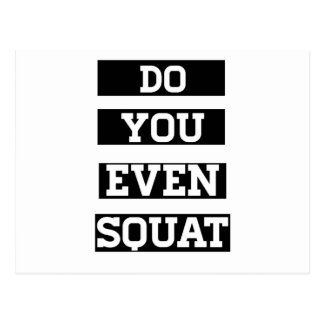 Do You Even Squat? Postcard