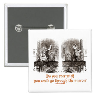 Do You Ever Wish You Could Go Through The Mirror? Pins
