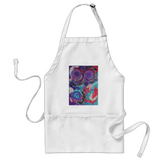 Do You Feel The Music? A Mixed Media Art Paint Adult Apron