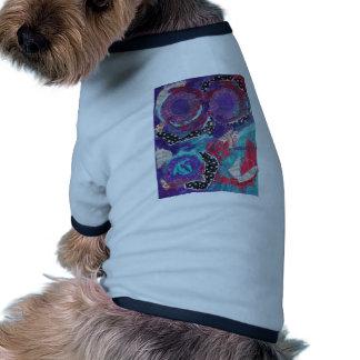 Do You Feel The Music? A Mixed Media Art Paint Pet T-shirt