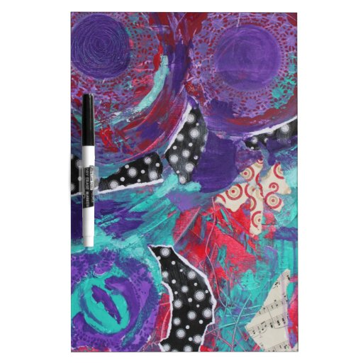 Do You Feel The Music? A Mixed Media Art Paint Dry Erase Whiteboards
