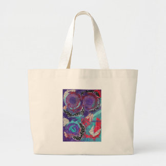 Do You Feel The Music? A Mixed Media Art Paint Large Tote Bag