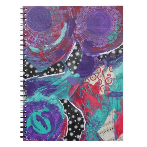 Do You Feel The Music? A Mixed Media Art Paint Spiral Note Books