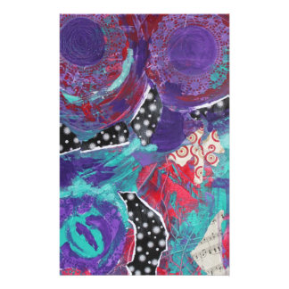 Do You Feel The Music? A Mixed Media Art Paint Stationery Paper