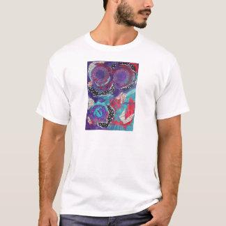 Do You Feel The Music? A Mixed Media Art Paint T-Shirt
