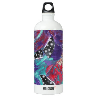 Do You Feel The Music? A Mixed Media Art Paint Water Bottle