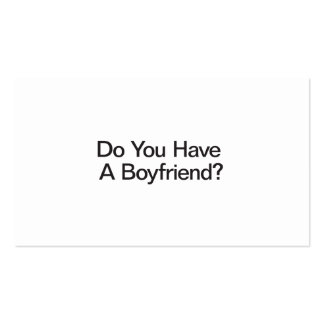 Do You Have A Boyfriend Double-Sided Standard Business Cards (Pack Of 100)