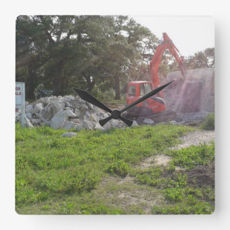 Do you have a construction company? square wall clock