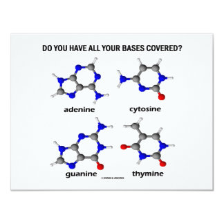 Do You Have All Your Bases Covered? (DNA Bases) Card