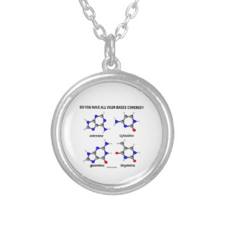Do You Have All Your Bases Covered? (DNA Bases) Silver Plated Necklace