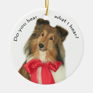 Do You Hear? Double-Sided Ceramic Round Christmas Ornament