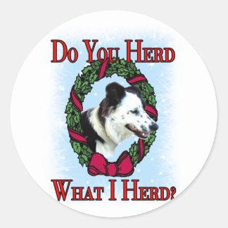 Do you herd classic round sticker
