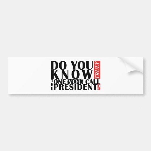 Do You Know Car Bumper Sticker