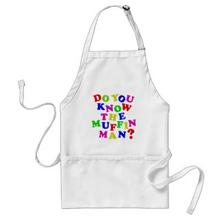 Do you know the Muffin Man? Adult Apron