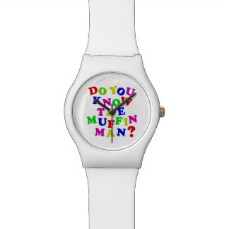 Do you know the Muffin Man? Wristwatch