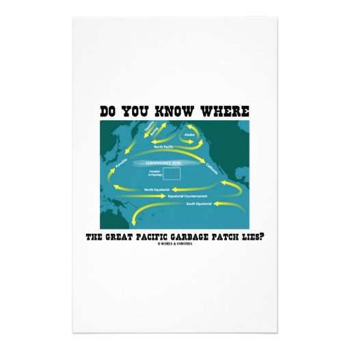 Do You Know Where Great Pacific Garbage Patch Lies Personalized Stationery
