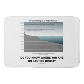 Do You Know Where You Are On Earth's Crust? Bathroom Mat