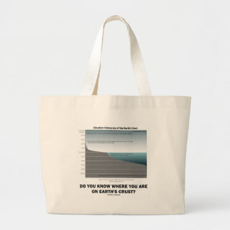 Do You Know Where You Are On Earth's Crust? Large Tote Bag