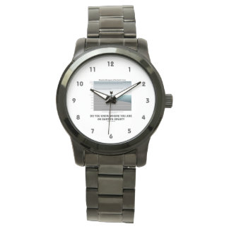Do You Know Where You Are On Earth's Crust? Wrist Watch