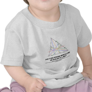 Do You Know Which Line Is Euler s Line Geometry T Shirt