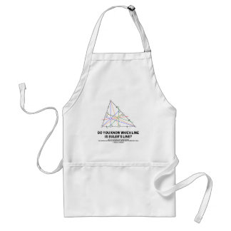 Do You Know Which Line Is Euler's Line? (Geometry) Adult Apron