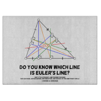 Do You Know Which Line Is Euler's Line? (Geometry) Cutting Board
