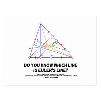 Do You Know Which Line Is Euler's Line? (Geometry) Postcard