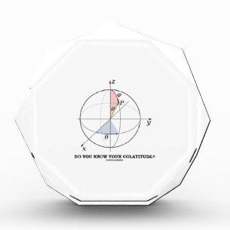 Do You Know Your Colatitude? (Geometry Attitude) Acrylic Award
