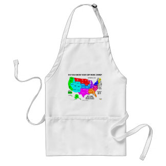 Do You Know Your Zip Code Zone? (US Map) Adult Apron