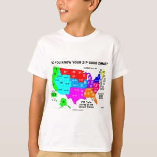 Do You Know Your Zip Code Zone? (US Map) T-Shirt
