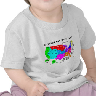 Do You Know Your Zip Code Zone? (US Map) Shirts