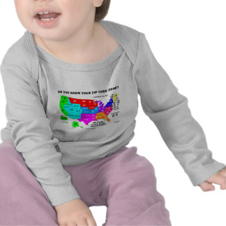 Do You Know Your Zip Code Zone? (US Map) Shirt