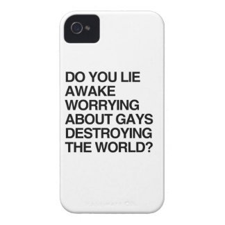 DO YOU LIE AWAKE WORRYING ABOUT GAYS iPhone 4 COVER