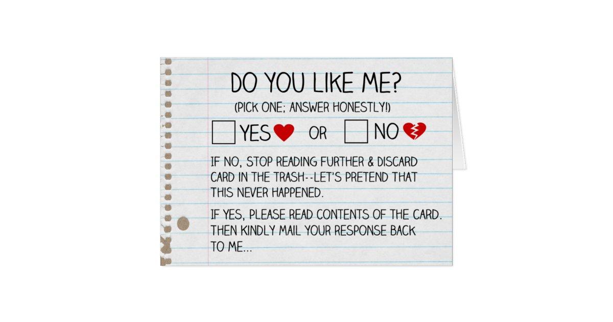 Do You Like Me Cards Zazzle