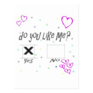 Do you like me? postcard