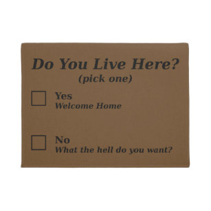 Sarcastic Doormats Amp Welcome Mats Zazzle
