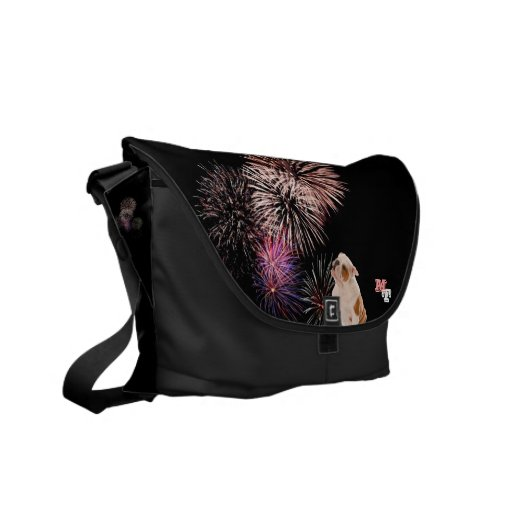 Do you Love Bulldogs? They Like Fireworks Too! Courier Bag