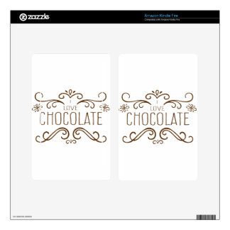 Do you love Chocolate ? Skin For Kindle Fire