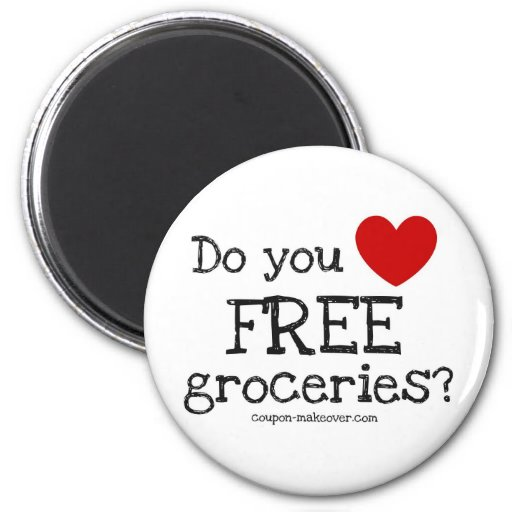 Do you love FREE Groceries Refrigerator Magnets