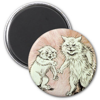 Do You Mind? Cat Artwork by Louis Wain 2 Inch Round Magnet