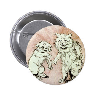 Do You Mind? Cat Artwork by Louis Wain Pinback Buttons