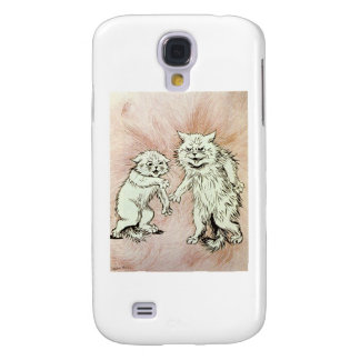 Do You Mind? Cat Artwork by Louis Wain Samsung Galaxy S4 Cases