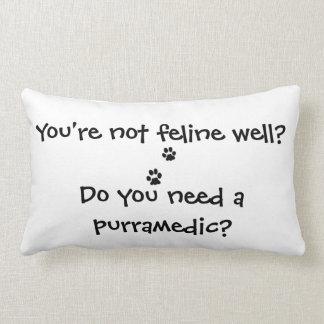 Do You Need a Purramedic Funny Cat Pillow Cushion