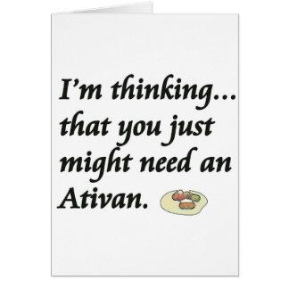 Do You Need an Ativan? Card