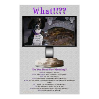 Do You Read For Meaning Poster print